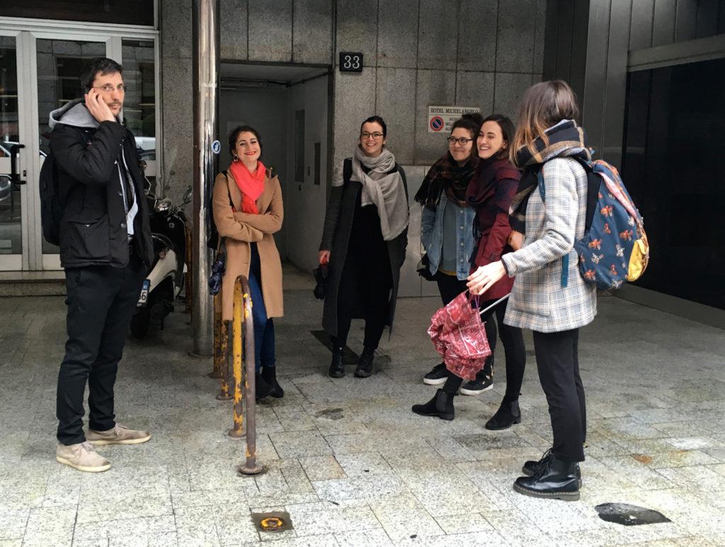 il gruppo AU79 in visita al cantiere