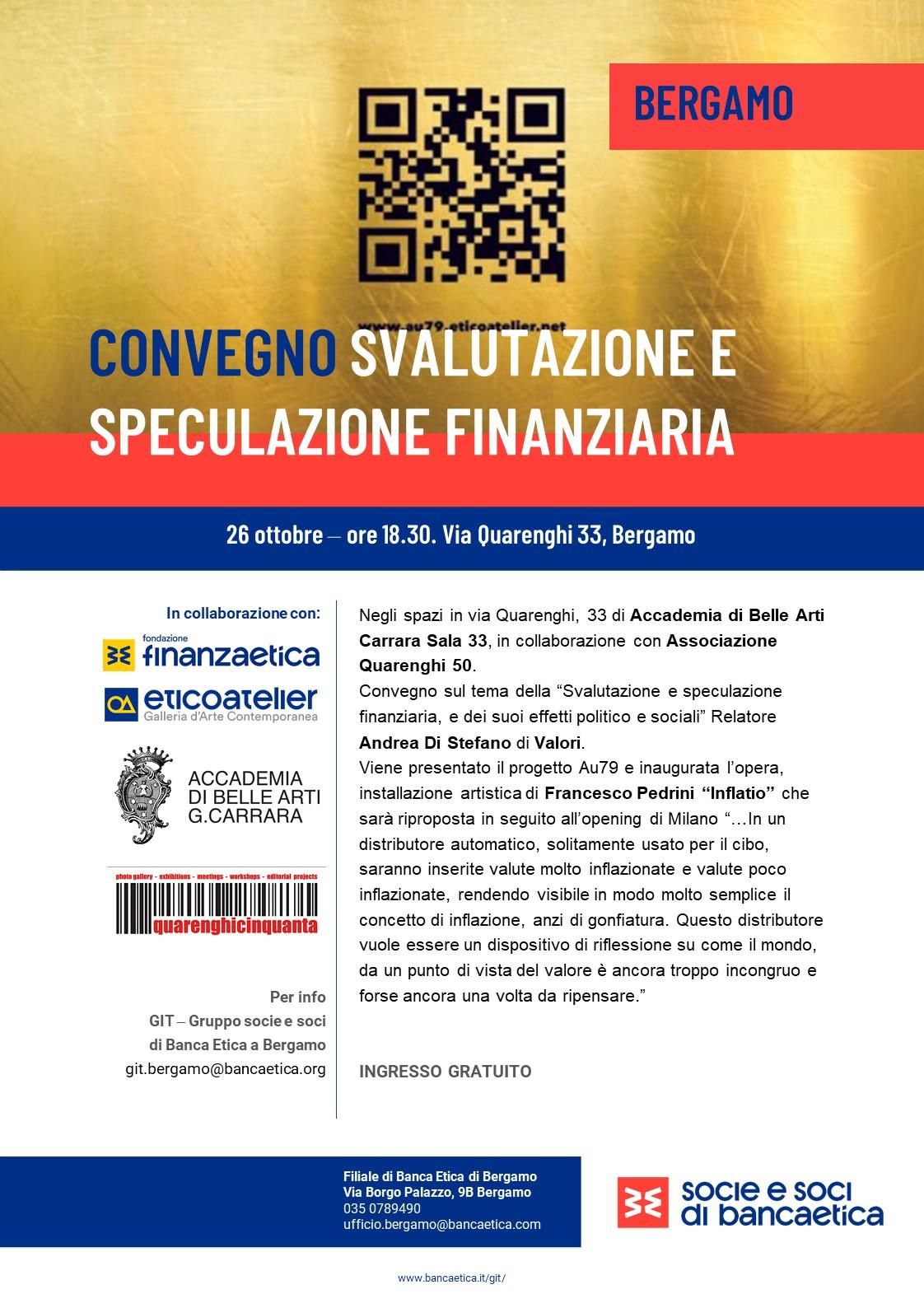 Bergamo Svalutazione e Speculazione Finanziaria